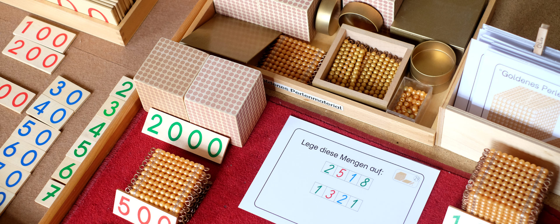 Montessorimaterialien für den Matheunterricht
