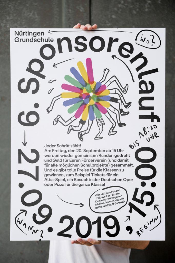 Poster des Sponsorenlaufs 2019