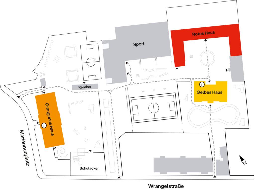 Lagepan der Nürtingen-Grundschule